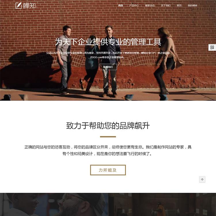 大气视频背景设计公司网站