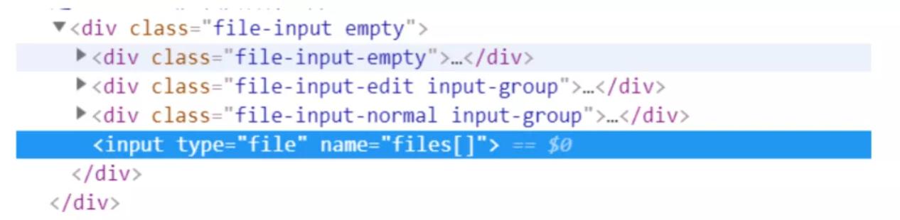 autotesting-定位上传文件的dom